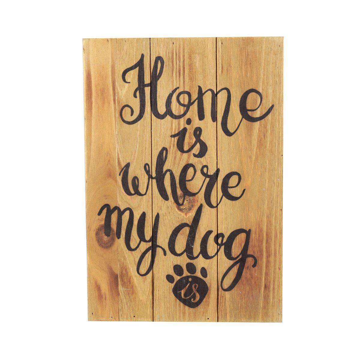 Quadro Placa de Madeira Decorativo Rustic Wood My Dog