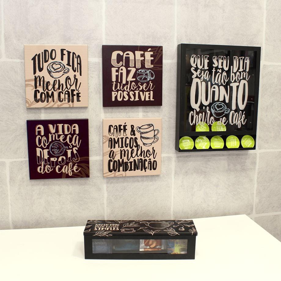 Quadro Porta Cápsulas Cheiro de Café