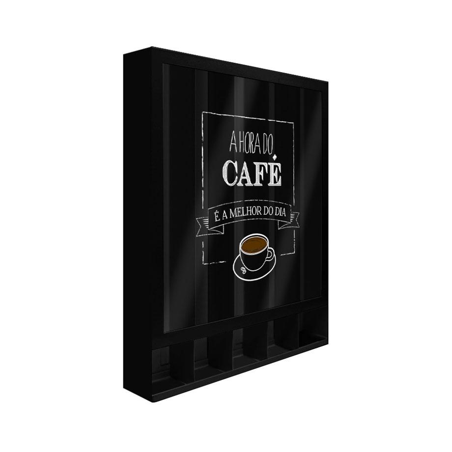 Quadro Porta Cápsulas Hora do Café