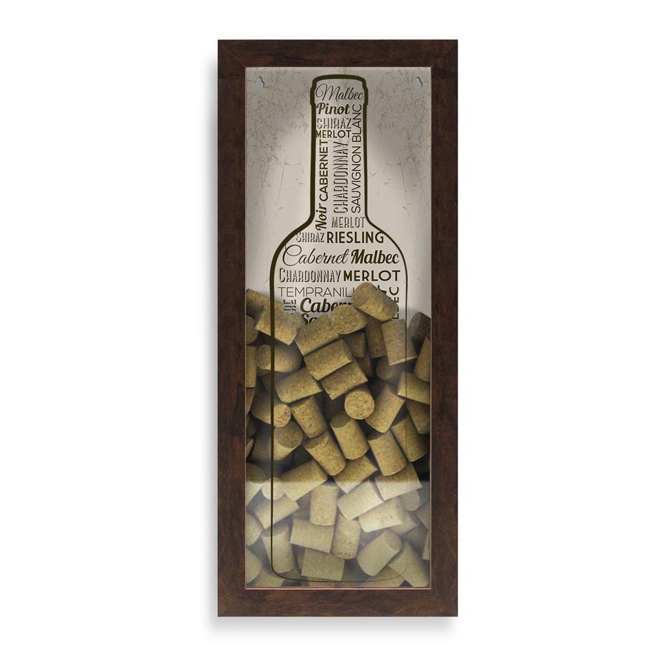 Quadro Porta-rolhas Grande Vintage - Melhores Vinhos