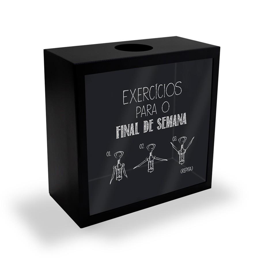 Quadro Porta Rolhas Mesa Exercícios para o Final de Semana