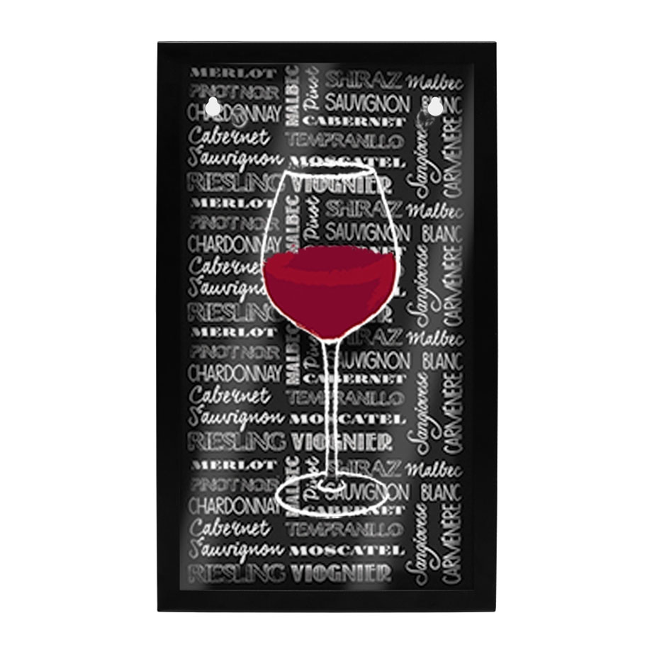 Quadro Porta Rolhas Taça de Vinho