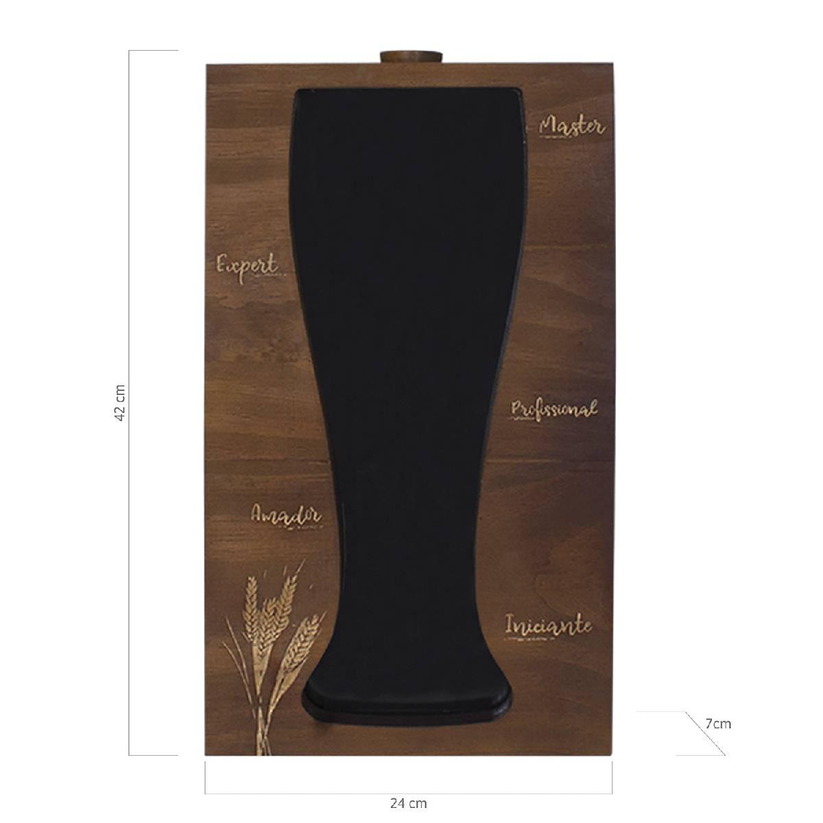 Quadro Porta Tampinhas de Cerveja Tulipa Níveis