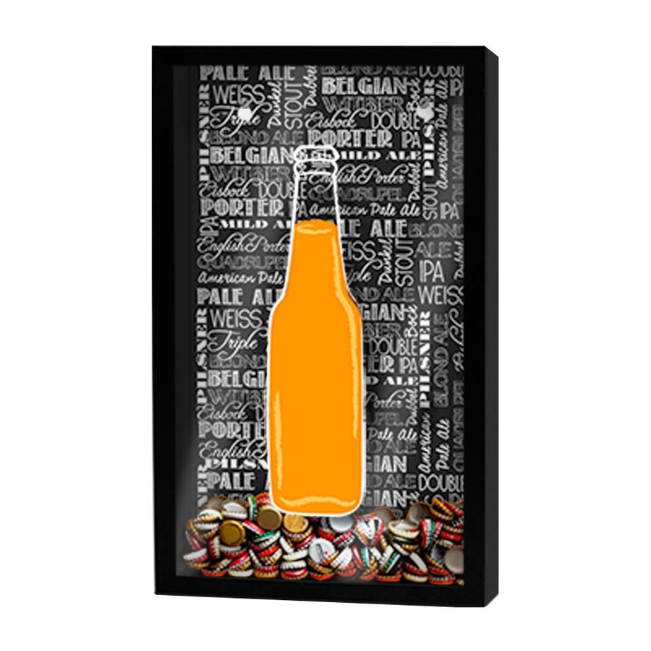 Quadro Porta Tampinhas Garrafa de Cerveja