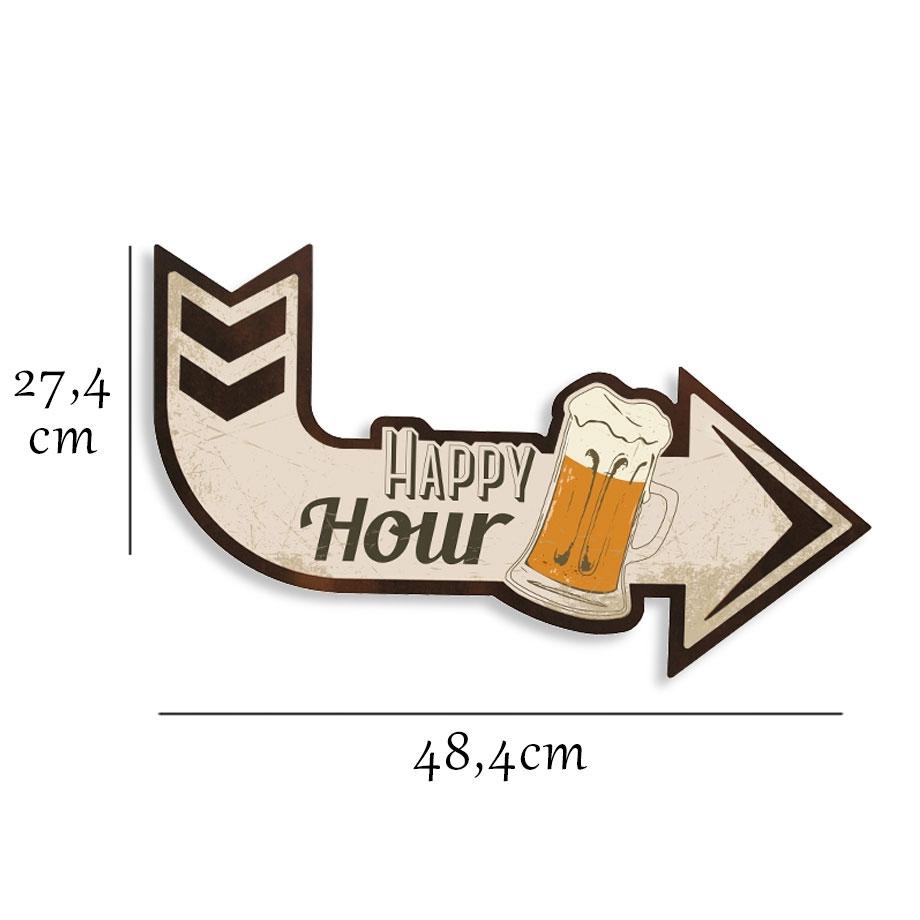 Quadro Seta Happy Hour