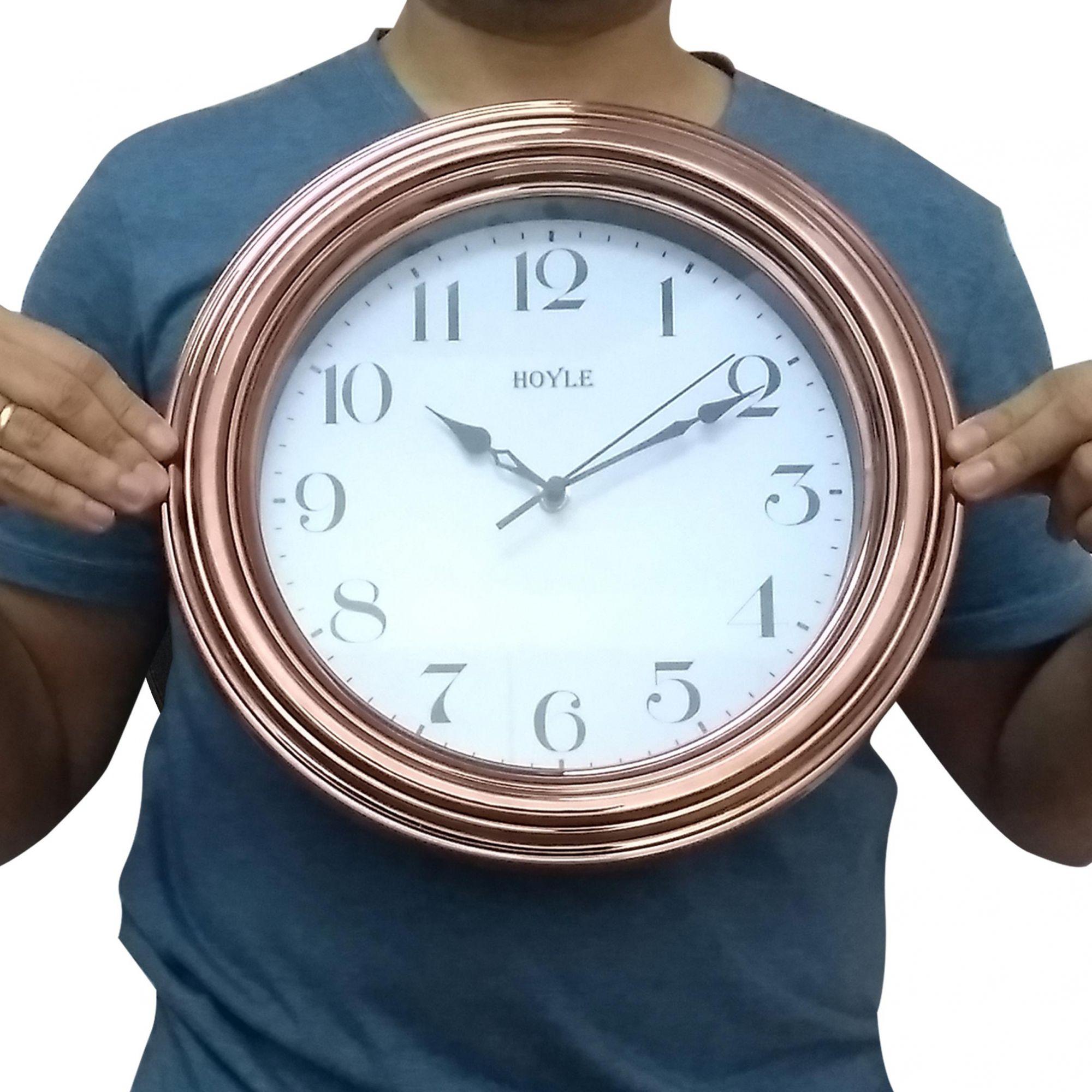 Relógio de Parede Redondo Cobre 30 cm - Hoyle