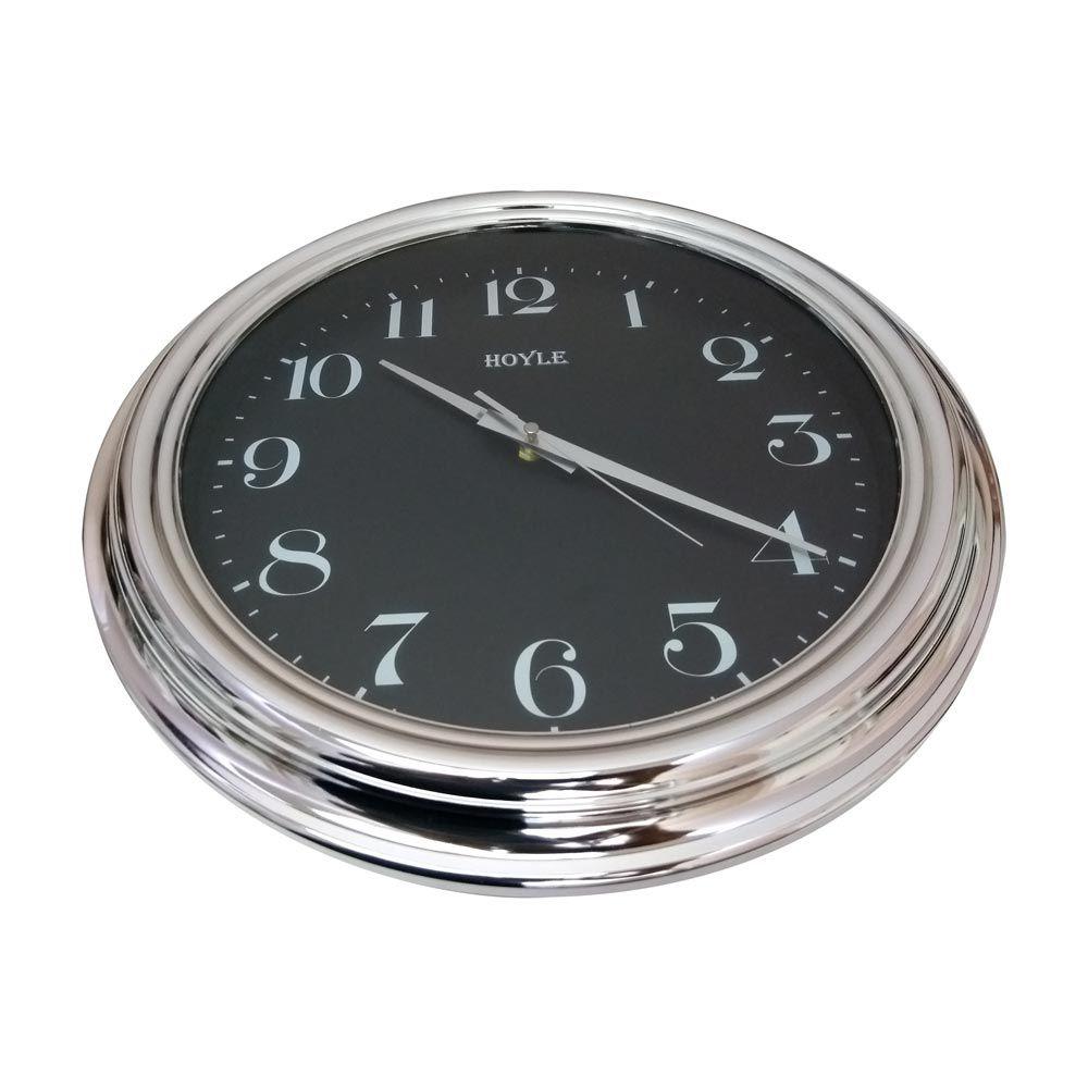 Relógio de Parede Redondo Prata 40 cm - Hoyle