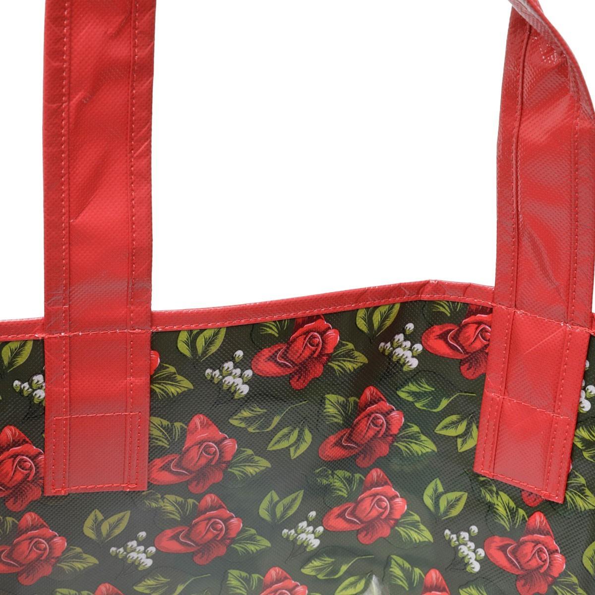 Sacola Reutilizável Frida Kahlo Rosas Vermelhas