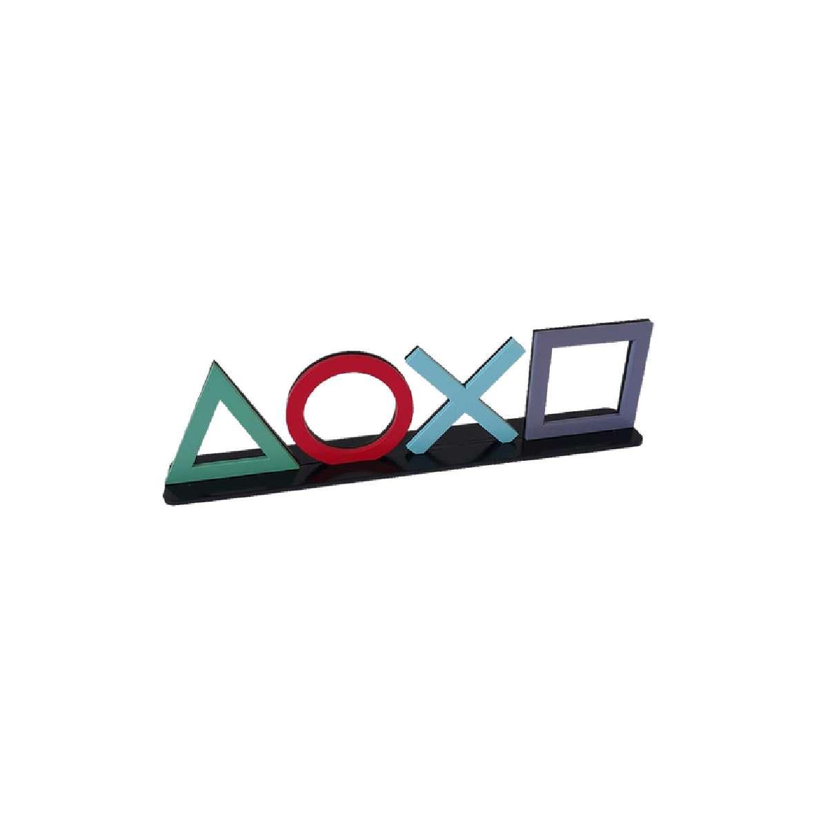 Enfeite Decorativo de Mesa Playstation Símbolo Botões em MDF