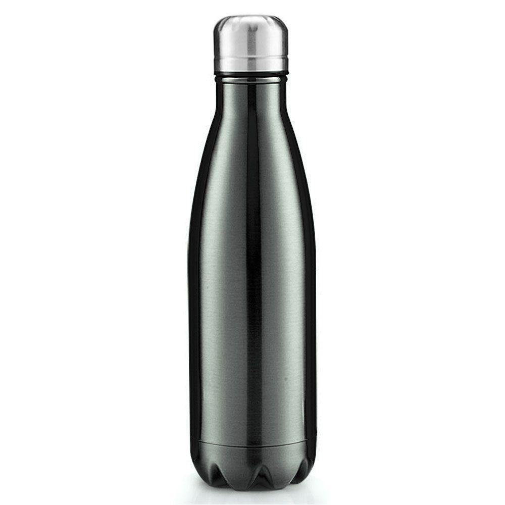 Squeeze Térmico Retro 500ml - Cantil Prata Escuro