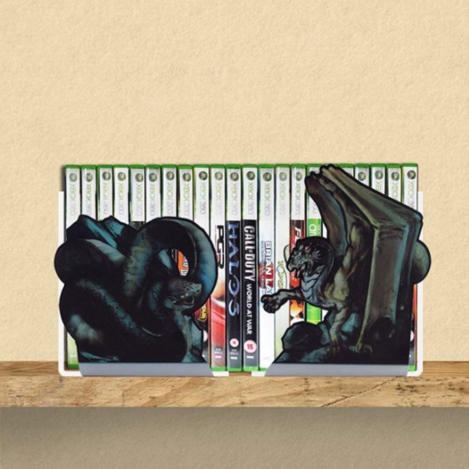 Suporte Aparador De Livro Dvd Cds -Cobra X Dragão