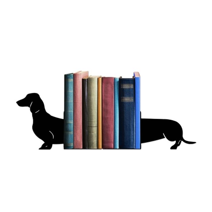 Suporte Aparador De Livros Dvd Cd Cachorro Dog Salsicha