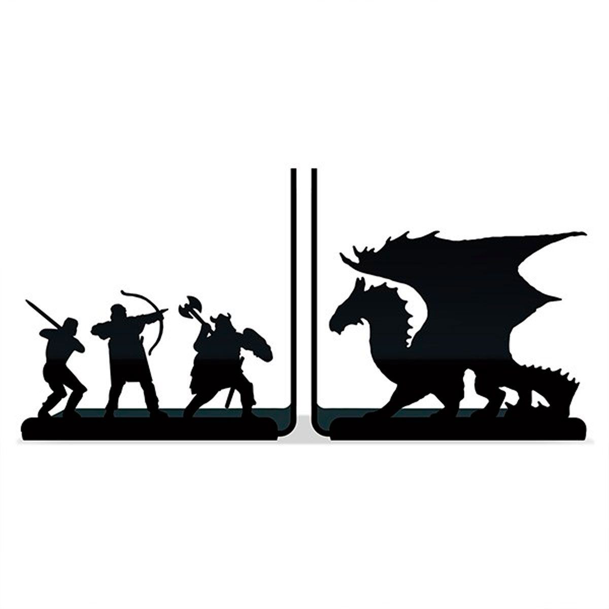 Suporte Aparador De Livros Dvd Cd - Dragão Terra Media RPG