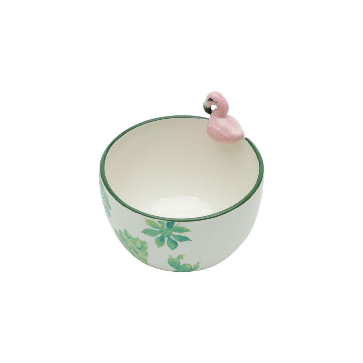 Tigela Bowl de Cerâmica Flamingo 500 ml