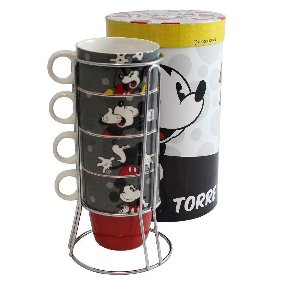 Torre De Canecas Mickey Mouse Presente Super