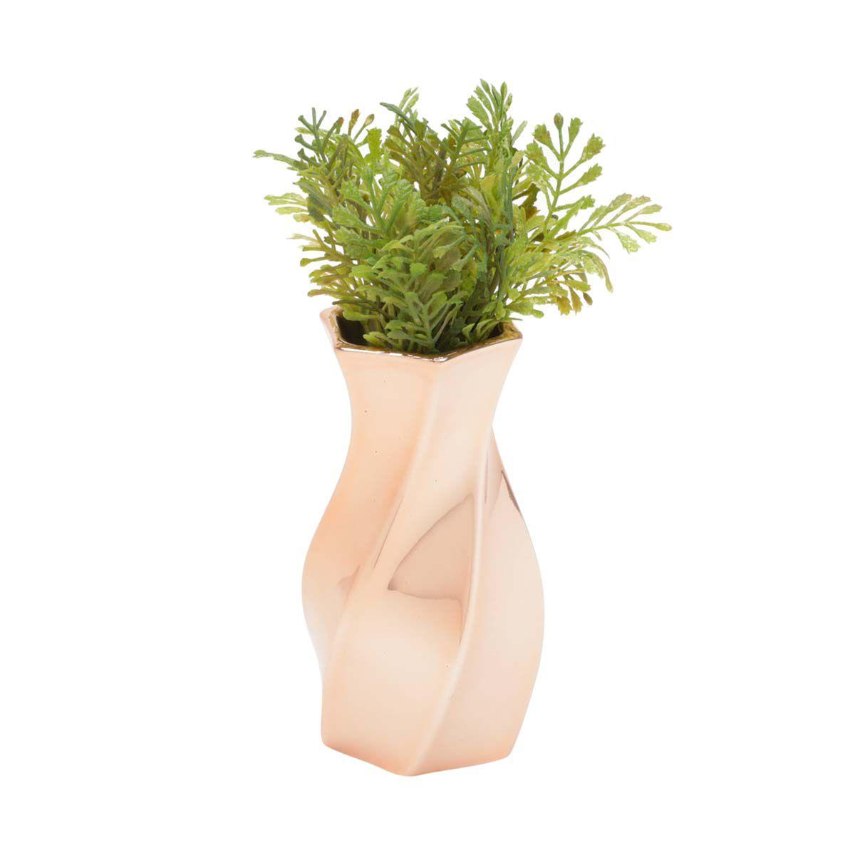 Vaso Decorativo de Cerâmica Curved Waves Cobre