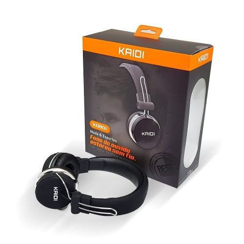 Fone De Ouvido Sem Fio Bluetooth Kaidi Kd801 Original Bass