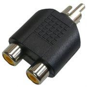 Adaptador Plug Rca P/2 Jack Rca - Níquel