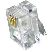 Conector Modular RJ-11 6P4C Pacote com 5 peças