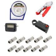 Kit Alicate Finder Inclinometro Decapador Conectores