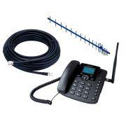 Kit Telefone Rural Com Antena Externa 18dBI EPKI12