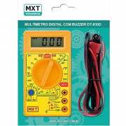 Multímetro Digital Com Buzzer DT-830D Amarelo