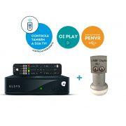 Receptor Digital Elsys Oi Tv Hd Etrs37 + Lnb Duplo Universal