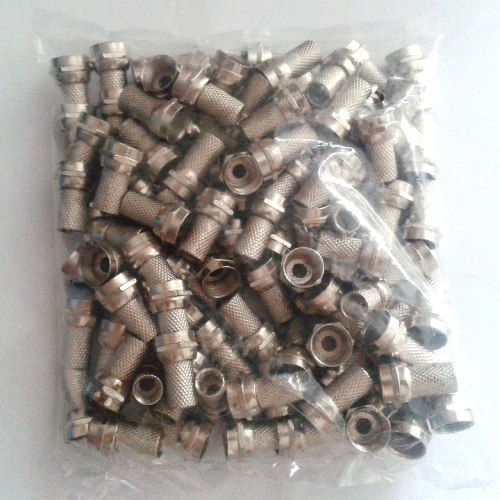 Conector F de Rosca RG59 Pacote com 50 peças