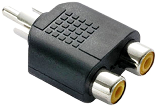 Adaptador Plug 2 Rca Fêmea Para 1 RCA Macho Pacote com 5 Peças