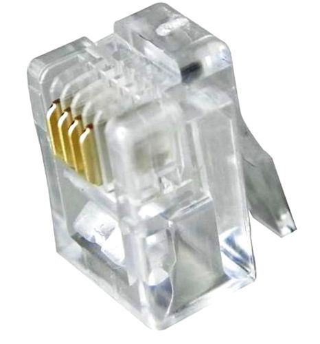 Conector Modular RJ 11 6P4C Pacote com 5 peças