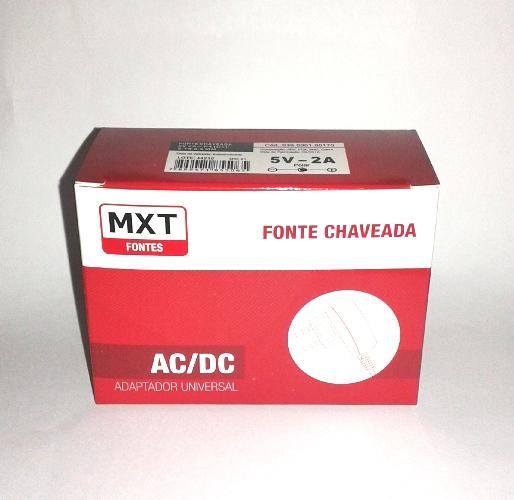 Fonte Estabilizada Chaveada Bivolt 5v 2a Plug P4 (C+) 5.5mm X 2.1