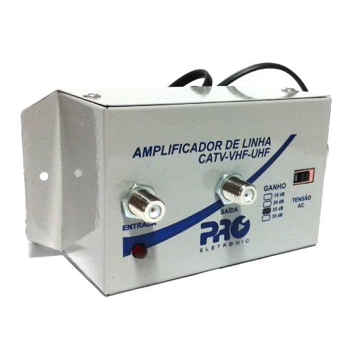 Amplificador Sinal 25 db Tv Hdtv Lcd Plasma Catv Uhf Vhf