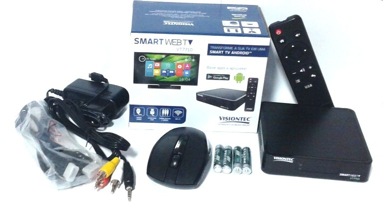 Conversor Smart Web TV com Android™ 4.4 VT7710 + Roteador Integrado
