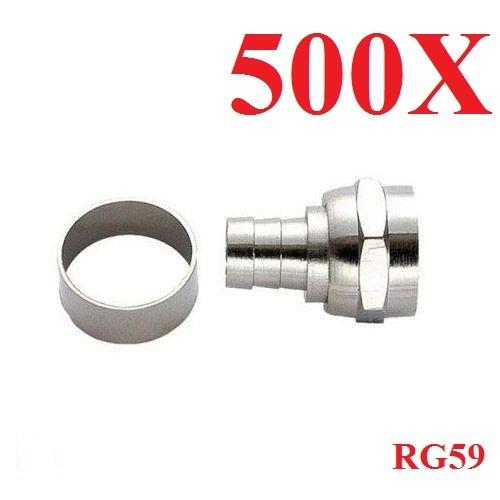 Conector Rg59 De Anilha/Ilhós/anel (pacote Com 500)