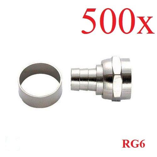 Conector Rg6 De Anilha/Ilhós/anel (pacote Com 500)