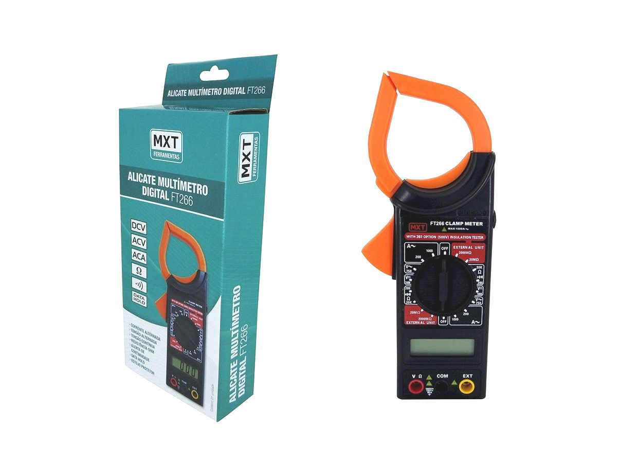 Alicate Multímetro Digital MXT FT-266