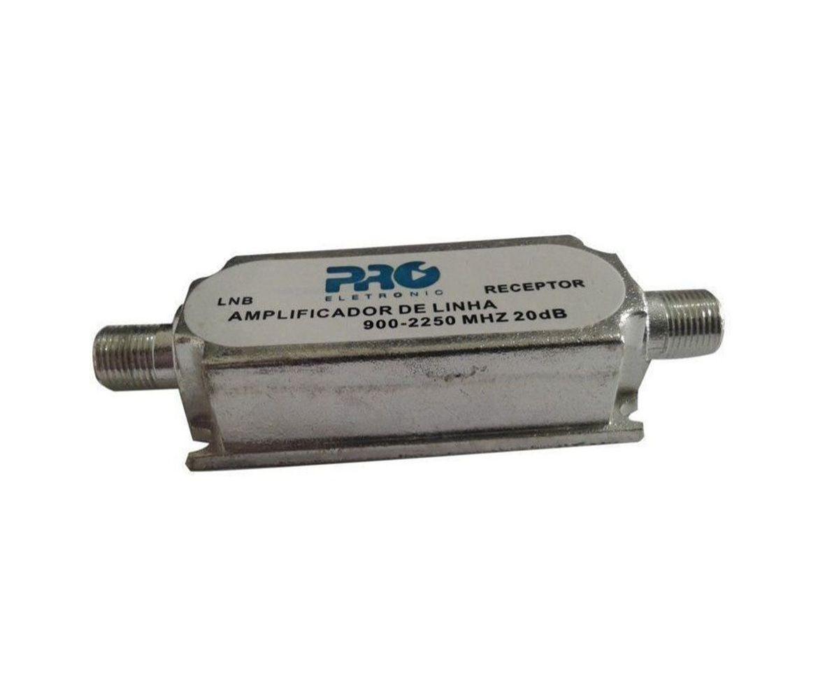 Amplificador de Linha 20dB Para Banda C e KU