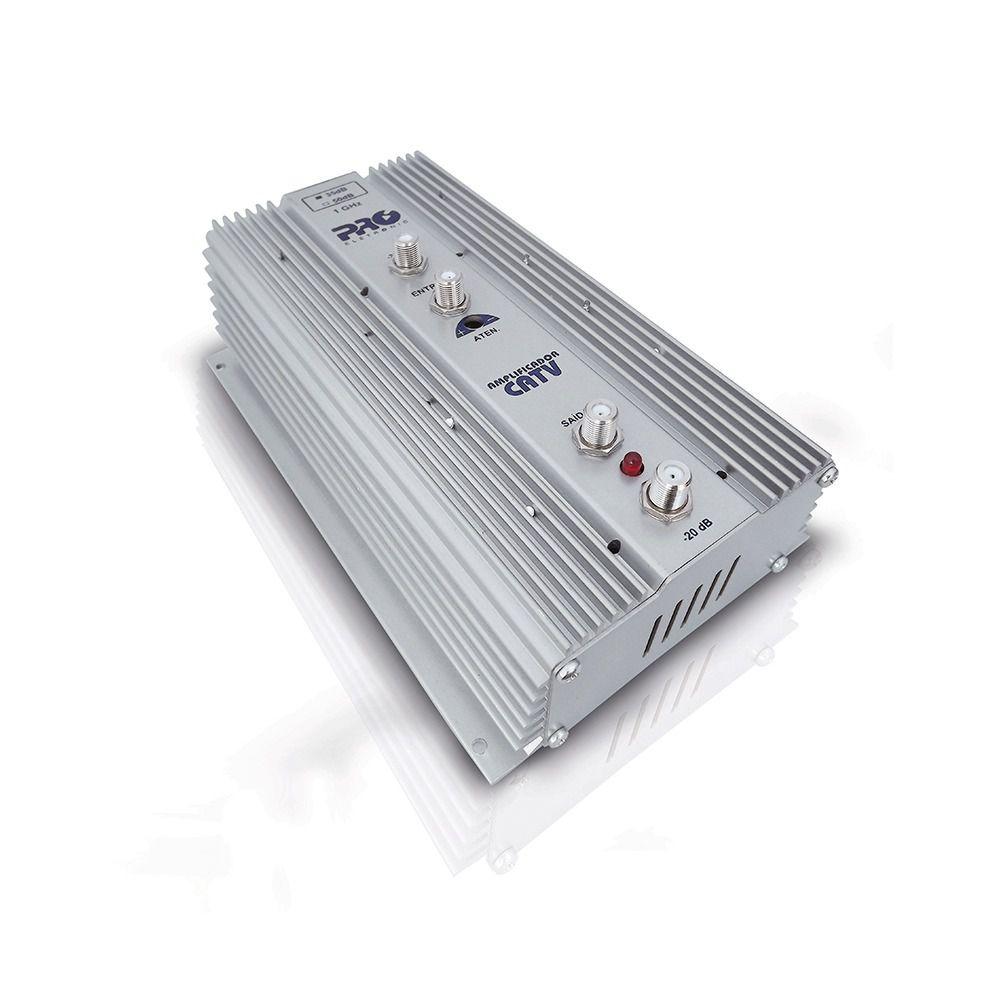 Amplificador De Potência Uhf Vhf Catv 35db Pqap-6350