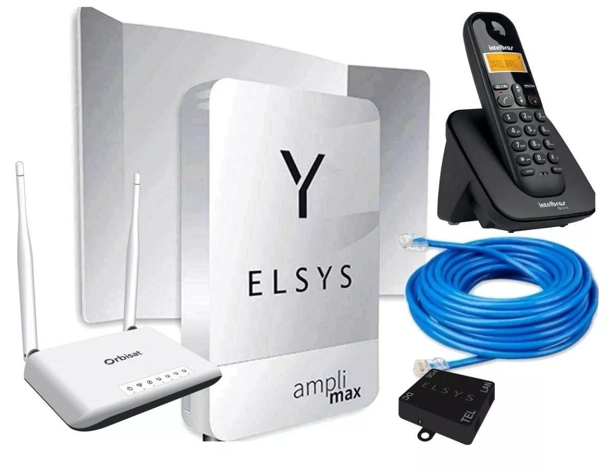 Amplimax Modem 4g Roteador Wifi Telefone sem fio digital TS 3110 + Cabo