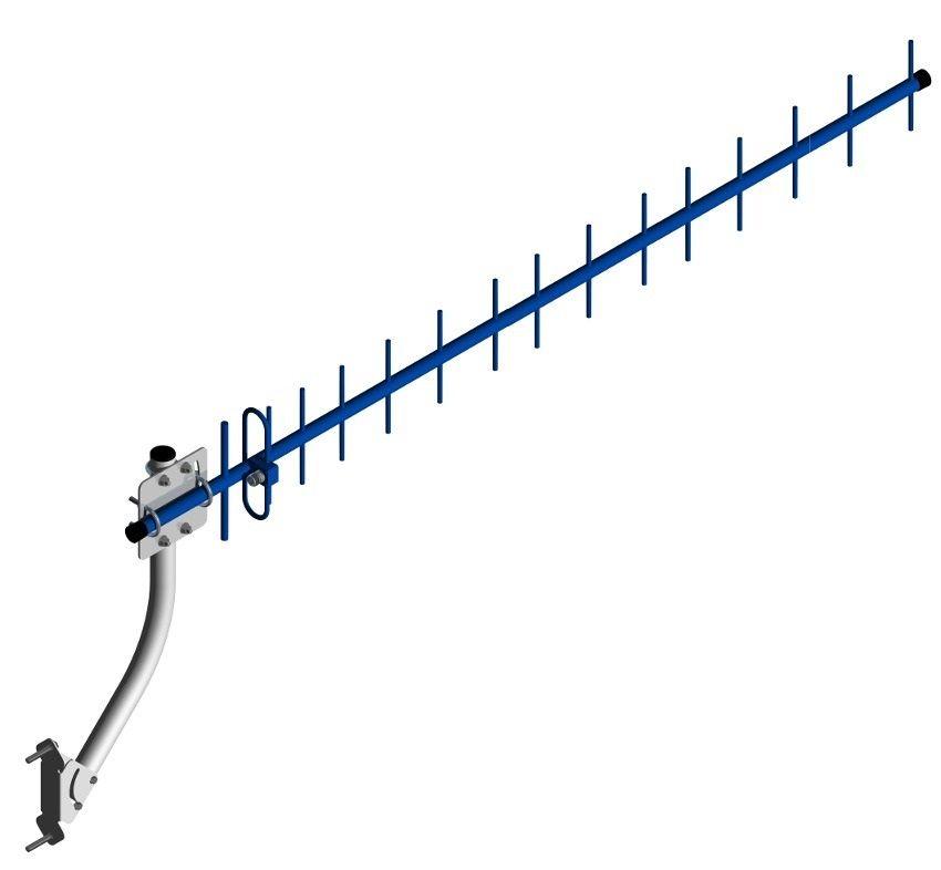 Kit Antena Externa Para Celular Triband 15dBi (806 a 960MHz)