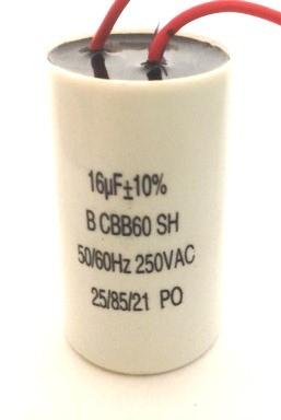 Capacitor Dielétrico p/ Partida de Motor 16UF/250VAC