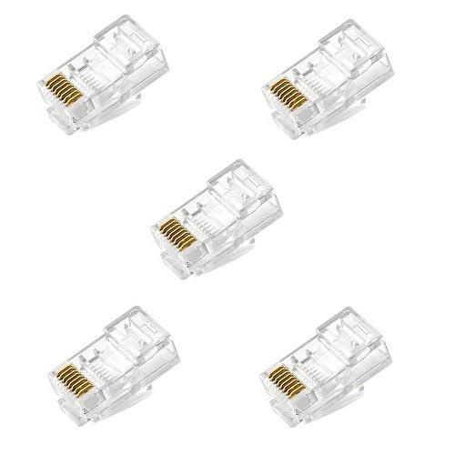 Conector de Rede Rj-45 Cat5e Pacote com 5 Peças
