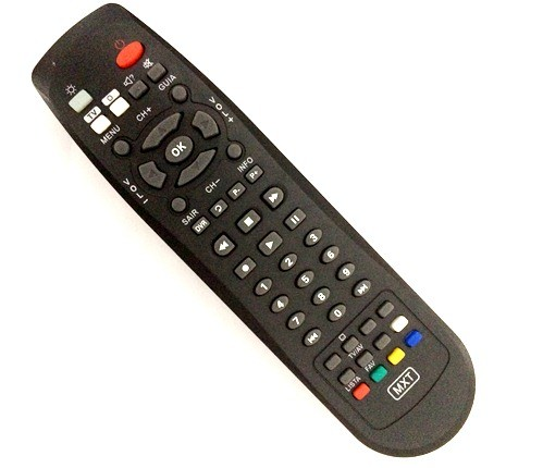 Controle Remoto MXT Receptor Oi Tv Black Satélite Amazonas