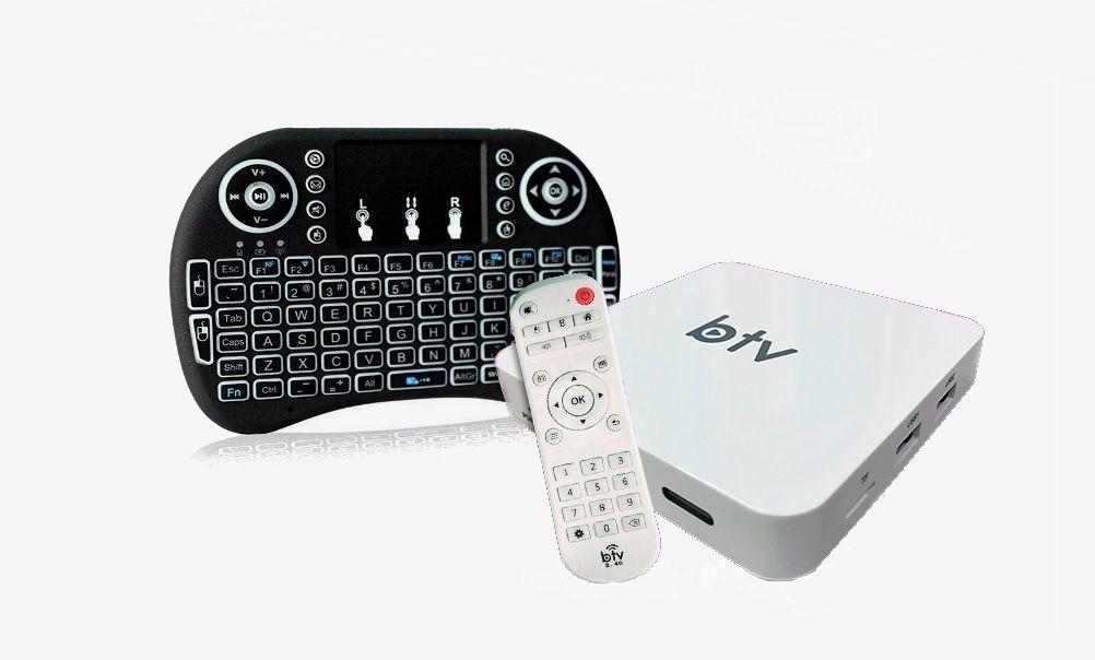 Conversor Receptor BTV B9 Smart Web Android 6.0.1 HD 4K + Teclado