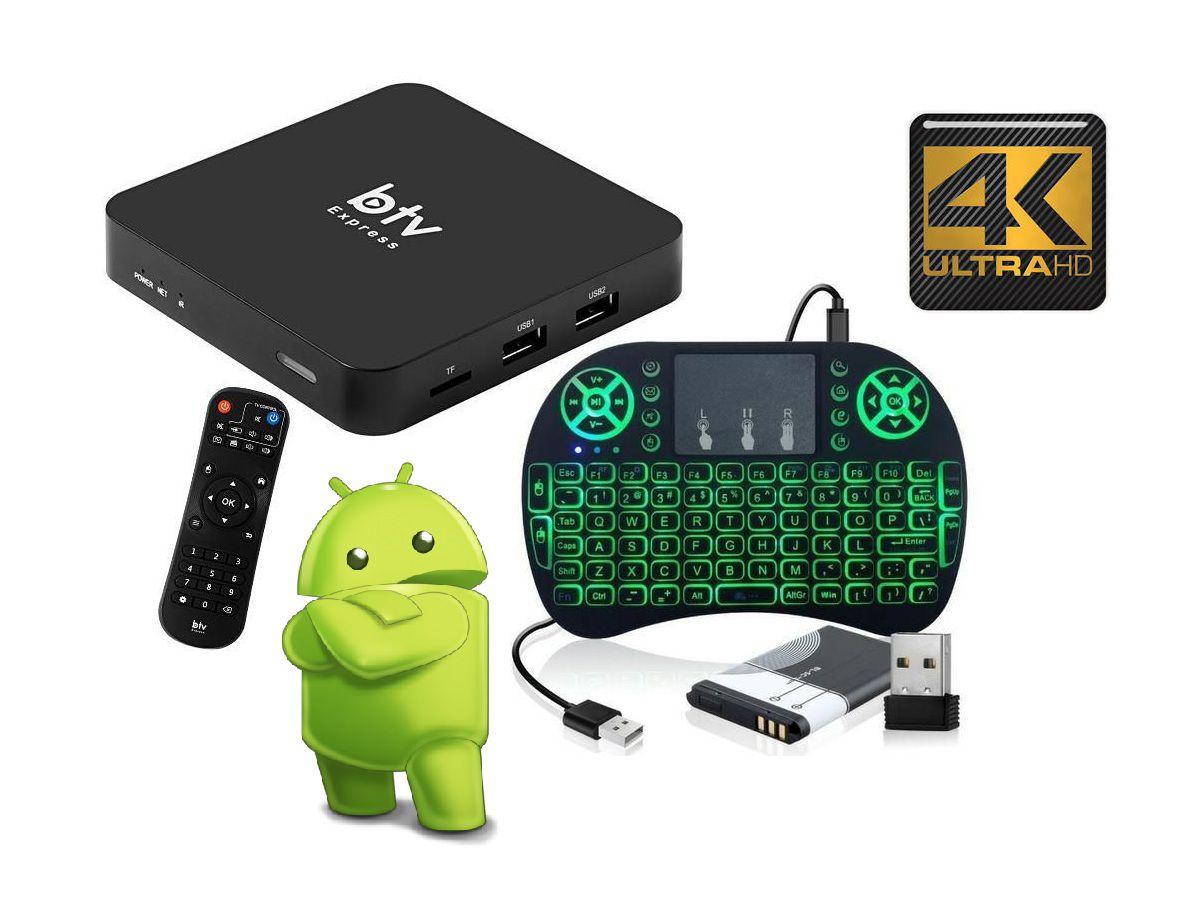 Conversor Smart Web TV Express Android 6.0.1 HD 4K + Teclado