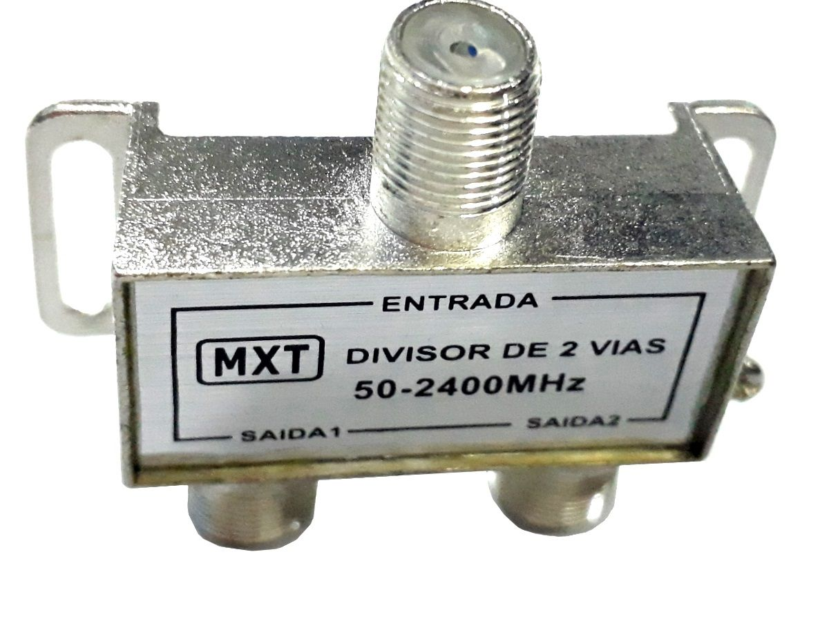 Divisor De Alta 1x2 Splinter Blindado 50 A 2400 Mhz 25 Pçs