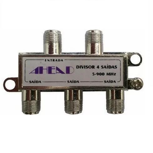 Divisor De Sinal 1x4 Baixa Frequência 5-900Mhz