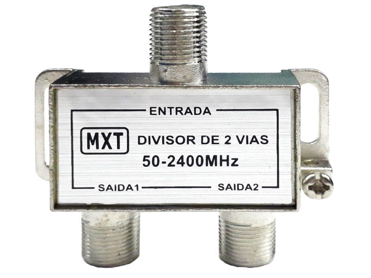 Divisor De Alta 1x2 Splinter Blindado 50 A 2400 Mhz 50 Pçs