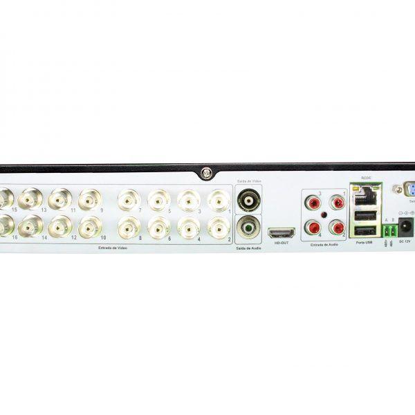 HVR Gravador de Vídeo 5x1 Híbrido de 16 Canais 1080N Com Protocolo P2P.