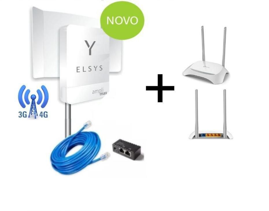 Kit Amplimax Modem 4g  Internet e Telefone + Roteador e Cabo